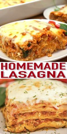 This Lasagna recipe is super easy to make with layers of cheese noodles beef and sauce. It is a classic homemade lasagna that is better than any restaurant version for a fraction of the cost. Lasagna Recipe Videos, Classic Lasagna Recipe, Best Lasagna Recipe, Beef And Spinach Lasagna Recipe, Homemade Lasagna Recipes, Lasagne Recipes, Homemade Lasagna Noodles, Cottage Cheese Lasagna Recipe, Meat Recipes