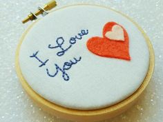Most popular tags for this image include: embroidery, etsy, I Love You, hand embroidery and hoop art