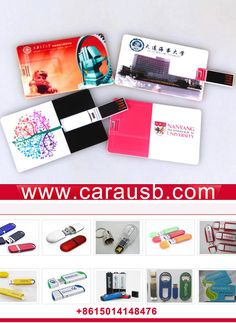The best promotional items: Personalized credit cards shape company Branded USB flash drives.