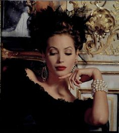 Christy Turlington in an advertisement for Chanel, 1992.