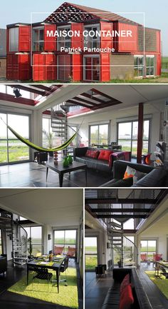 Tiny Container House, Container Office, Shipping Container Design, Shipping Containers, Cargo Home, Smart Home Design, Townhouse Designs, Casas Containers, Container Architecture