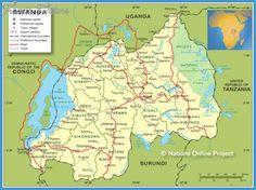 Rwanda Map - http://travelsfinders.com/rwanda-map.html