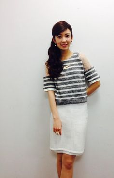 今日の衣装はLaymeeでした!トレンドのホワイトとメッシュかわいい〜!