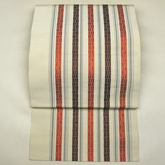 Hakata ori, silk nagoya obi / 博多織風の平帯地を八寸名古屋帯にお仕立てされたお品    #Kimono #Japan http://global.rakuten.com/en/store/aiyama/