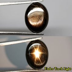 6 RAYS 100% STAR! 8.25CT.Unheated OVAL CAB BLACK Natural SAPPHIRE Thailand NR! #GEMNATURAL