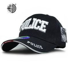 >> Click to Buy << [HAN WILD] Brand Unisex Police Baseball Cap Tactical Men Caps Canvas Adjustable Letter Feminino Bones Masculino Curved Peak Hat #Affiliate