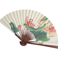 Large Floral Asian Fan ($75) ❤ liked on Polyvore featuring home, home decor, fillers, accessories, fan, fillers - green, stuff, decor, green home decor and asian home decor