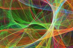 String Theory: The mathematics of moving beyond current physics: Superstrings, conceptual computer artwork