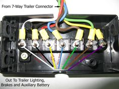 trailer junction box 7 wire schematic trailer wiring 101 trucks rh pinterest com Step by Step to a Junction Box Light Phase Phree Addind Whip Adding Wire to Junction Box