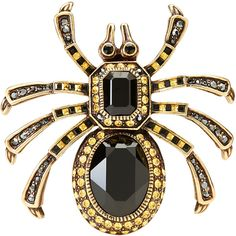 Heidi Daus Spider Pin (3.404.625 VND) ❤ liked on Polyvore featuring jewelry, brooches, accessories, white, white jewelry, pin jewelry, heidi daus, heidi daus jewelry and pin brooch