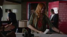 "VIDEO: (1x01) Simon and Clary at Java Jones with Jess Penner's ""Don't Come Over"" playing in the background. #Shadowhunters / Part 1.  Credit: Freeform.  #shadowhunterstv #tmi #abcfamily #themortalinstruments #shadowhunterstvshow"