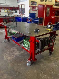 Welding Bench, Welding Cart, Welding Shop, Diy Welding, Metal Welding, Fabrication Table, Welding And Fabrication, Metal Projects, Welding Projects