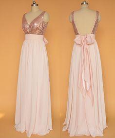 Lentejuelas rosa vestidos de fiesta oro / por StarCustomDress