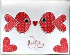 Punch Art Valentine by scgustaf - Cards and Paper Crafts at Splitcoaststampers Valentine Love Cards, Valentine Crafts, Handmade Valentines Cards, Homemade Valentines Day Cards, Arte Punch, Punch Punch, Punch Art Cards, Karten Diy, Valentine's Cards For Kids