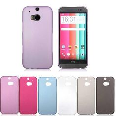 Ultra Thin Slim Matte Plastic Hard Back Case Cover For HTC One M8