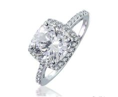 Cubic Zirconia Engagement Rings Cushion Cut 3