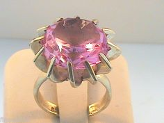 Vintage Taxco Mexico Sterling Silver Ring.  Fabulous in Pink!    $36.20