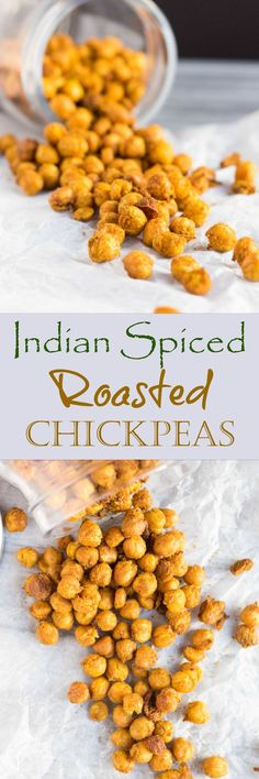 Indian Spiced Roasted Chickpeas are a great high fibre, high protein snack that is great for eating on the go.