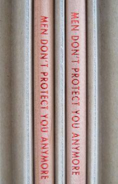 Jenny Holzer pencils.