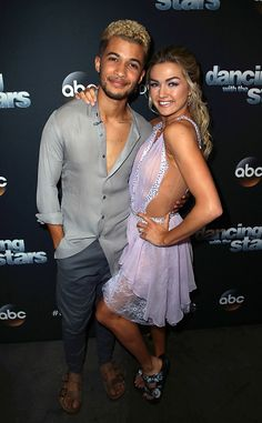 Jordan Fisher and Lindsay Arnold at Dancing with the Stars (Oct. 9, 2017)