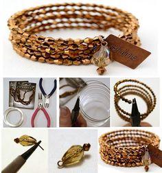 Memory Wire Bracelet - jewelry making ideas
