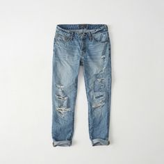 Ames, a borrowed-from-the-boys style with the well-worn, well-loved feel of a vintage favorite. If you want a slightly looser fit, we re Low Rise Boyfriend Jeans, Low Rise Jeans, Ripped Jeans, Mom Jeans, Superhero Fashion, White Distressed Jeans, White Jeans, All American Clothing, Abercrombie Fitch