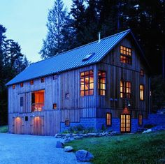 Converted barn.