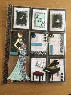 Musical themed pocket letter.