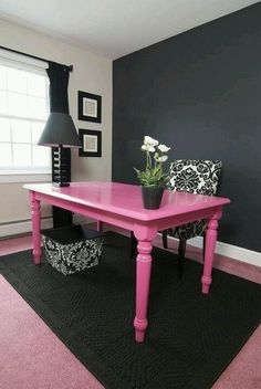Pink desk for my craft room