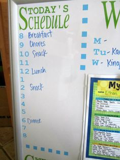 Our 10 favorite chore charts for kids are the perfect way to get some help around the house! Take a look and see if you have a favorite! Daily Schedule Kids, Family Schedule Board, Today's Schedule, Chore Chart Kids, Chore Charts, Chore Board, Weekly Chores, Kids Planner, Family Command Center