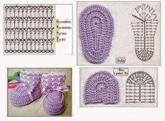 Amazing Picture of Baby Booties Crochet Pattern Booties Crochet, Crochet Baby Boots, Crochet Baby Sandals, Baby Girl Crochet, Baby Booties, Beau Crochet, Love Crochet, Crochet For Kids, Beautiful Crochet