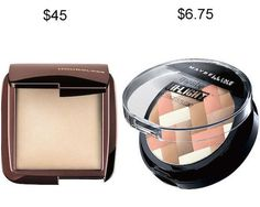 Try Maybelline Master Hi-Light Studio Bronzer in place of Hourglass Ambient Lighting Powder and save about $38.