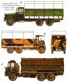 Allied Tanks and Combat Vehicles of World War II: Motorised Military Art, Military History, British Tanks, British Army, Afrika Korps, Engin, Military Equipment, North Africa, Old Trucks