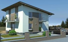 Typový dům Solar od APEX ARCH s.r.o. Solar, Mansions, House Styles, Outdoor Decor, Home Decor, Decoration Home, Manor Houses, Room Decor, Villas