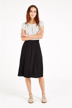 Louche Hasina Pleated Midi Skirt