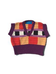 Adriana Sweater Vest 001- 1 Available — Erika Maish Knit Fashion, Crochet Clothes, Erika, Hand Crochet, Vest, Knitting, Sweaters, Cotton, Clothing