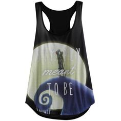 The Nightmare Before Christmas Meant To Be Girls Tank Top   Hot Topic ($20) ❤ liked on Polyvore featuring tops, shirts, tank tops, 10. tops., phrase, quotes, saying and text