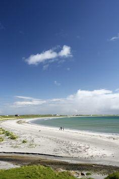 White sand beach at Gott Bay, Island of Tiree, Argyll, Scotland, UK Scotland Travel, Scotland Uk, Scottish Greetings, Ocean Springs, Scottish Islands, White Sand Beach, Quality Time, Homeland, Get A Life