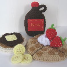 CROCHET N PLAY DESIGNS: New Crochet Pattern: Waffles, Pancakes & Syrup