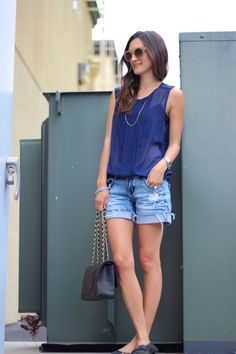 Navy Pleats + BF shorts from Frankie Hearts Fashion