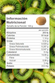 #Kiwi información nutricional #Adelgaza con Batidos de esta fruta mezclada con exquisitas verduras 🥝 Kiwi, Lettuce, Fruit, Vegetables, Flat Abs, Flat Tummy, Weight Loss Diets