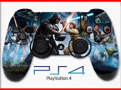 Battlefront Skin PS4 Controller Skin Wrap Sticker Playstation 4 Skin Star Wars Skin Darth Vader Skin Luke Skywalker Skin