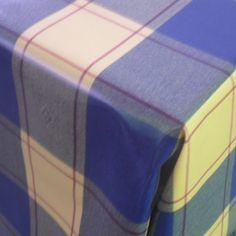 Blue + Yellow Check