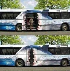 Cool paint job on this bus! :-)