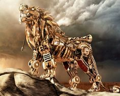 Steampunk lion-very cool