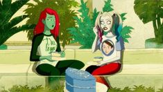 Harley Quinn the Animated Series is coming to November Harley Quinn, Aarmau Fanart, Yuri Comics, Poison Ivy Dc Comics, Lance Black, Freaks And Geeks, Cute Disney Drawings, Gotham Girls, Art Competitions