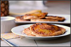 Pineapple Upside Down Pancakes - Made these for Thanksgiving breakfast.  They were amazing.  I used canned pineapple (two small cans for 8 slices, which was perfect since my batter made 8 pancakes) and used my normal boxed pancake mix, so it was simpler than this exact recipe.  Husband really liked these.  My go-to special occasion breakfast now.