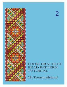 Bead Loom Geometrical Motifs 2, 5, 6, 7 Multi-Color Bracelet Patterns PDF