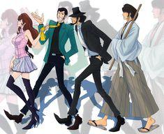 Fujiko, Lupin, Jigen e Goemon