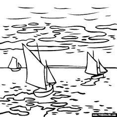 100% free coloring page of Claude Monet painting - Landscape. You be the master painter! Color this famous painting and many more! You can save your colored pictures, print them and send them to family and friends!